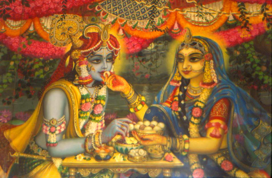 Image result for Radha cooks for Krsna