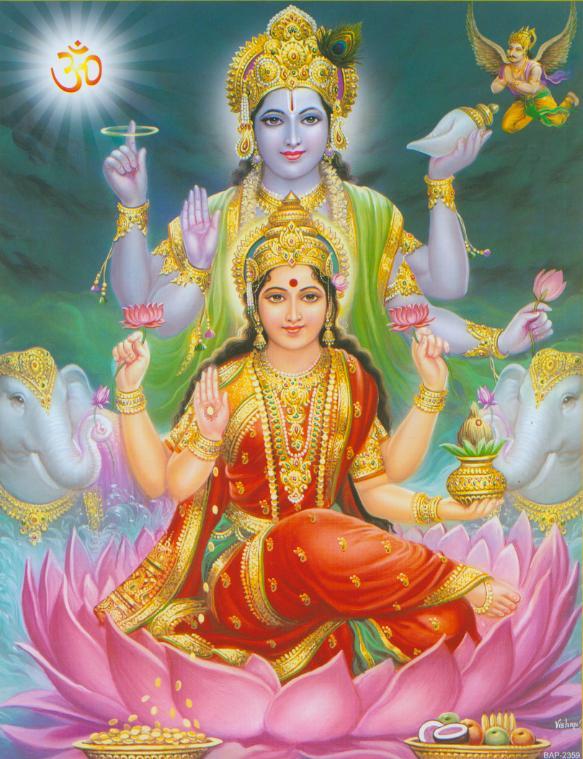 lord vishnu with laxmi - photo #13
