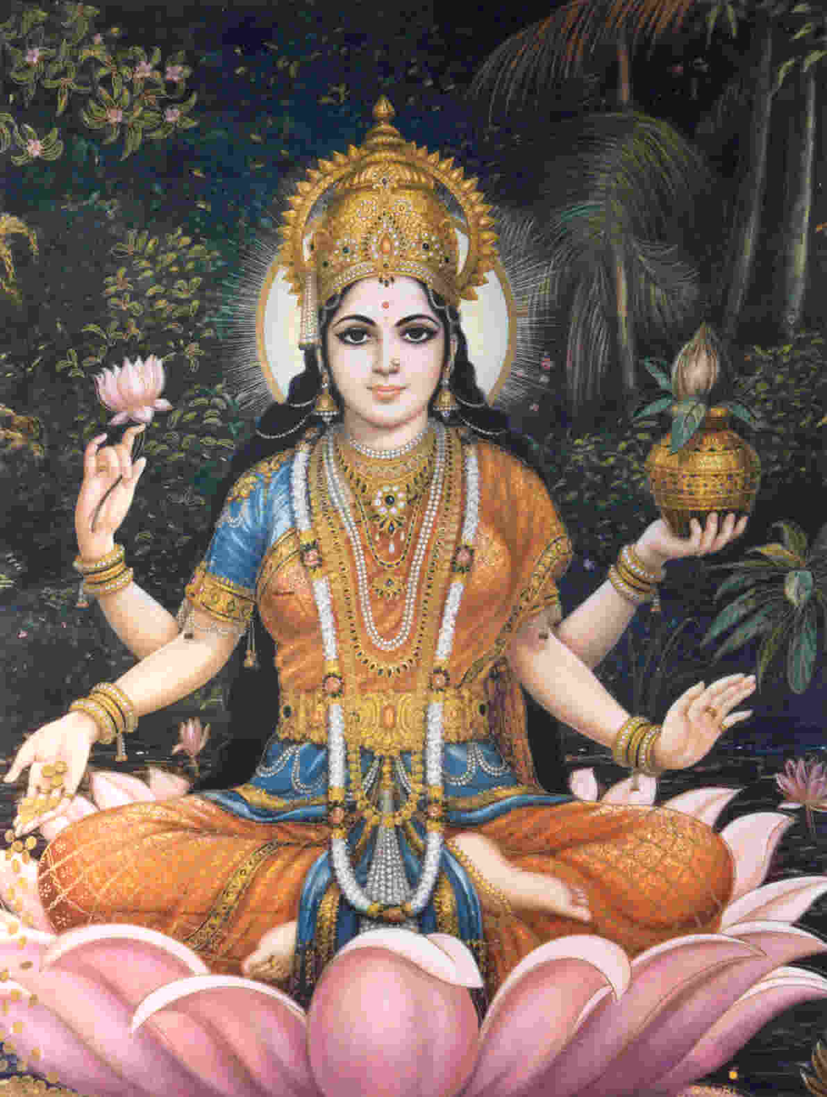 Goddess Lakshmi is the consort