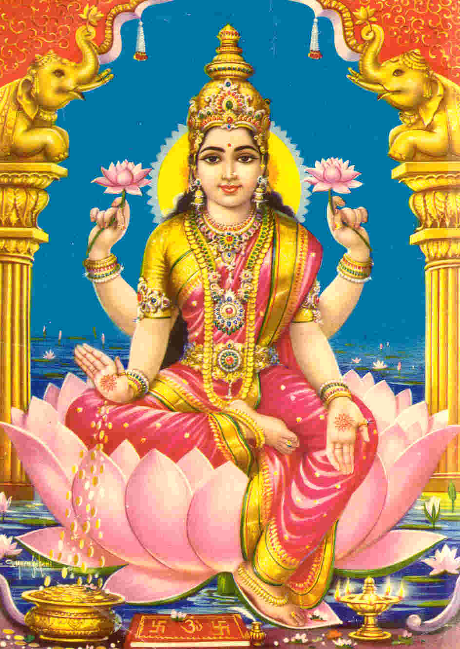 Another view of lakshmidevi the goddess of fortune
