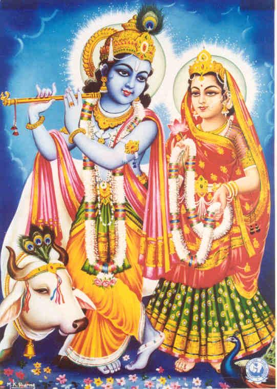 Radha Krishna With Cow Wallpaper Hd